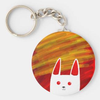 Bunny Basic Round Button Keychain
