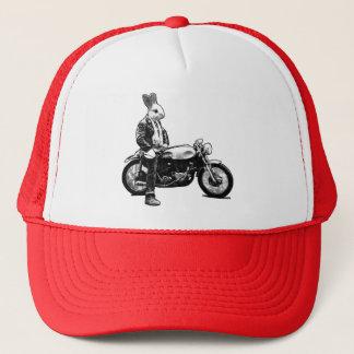 Bunny biker trucker hat