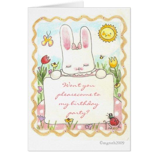 bunny birthday invitation