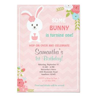 Bunny Birthday Invitation / Bunny Invitation