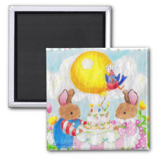 Bunny Birthday party magnet