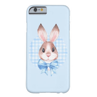 Bunny. Blue bow Barely There iPhone 6 Case