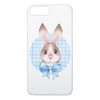 Bunny. Blue bow Case-Mate iPhone Case