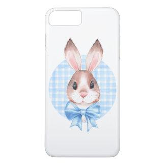 Bunny. Blue bow iPhone 8 Plus/7 Plus Case