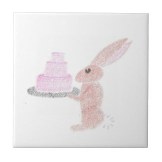 Bunny Brings Out The Cake Tile