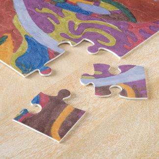 """Bunny Bunny Hop Hop"" original abstract Jigsaw Puzzle"