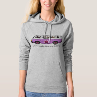 Bunny Bus Hoodie By Rabbit Rescue - Purple