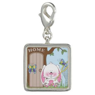Bunny Cartoon Photo Charm