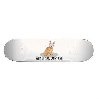 Bunny Cat Sad Skateboard