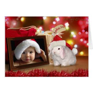 Bunny Christmas Photo Card
