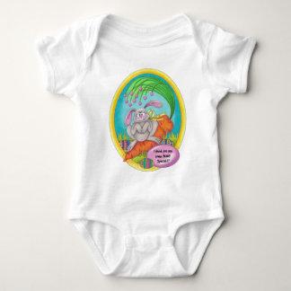 Bunny Coloured-words Baby Bodysuit