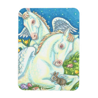 BUNNY & COLT ANGELS, WHIMSY EASTER MAGNET Small