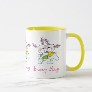 BUNNY COUPLE HUGS MUG