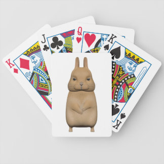Bunny cute and lovely bicycle playing cards