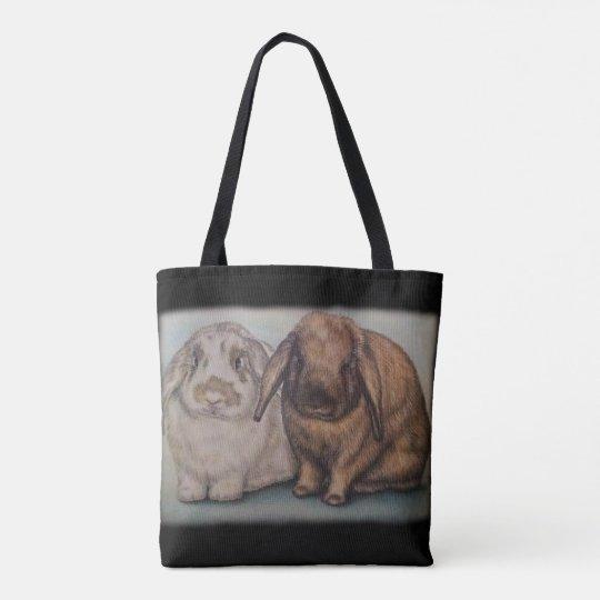 Bunny Drawing Rabbit Animal Art Tote Bag