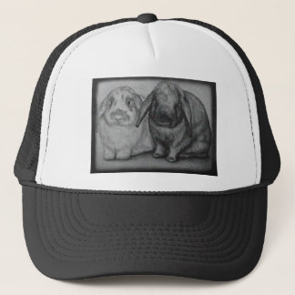 Bunny Drawing Rabbit Animal Chalk Art Trucker Hat