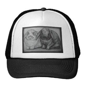 Bunny Drawing Rabbit Animal Chalk Art Trucker Hat