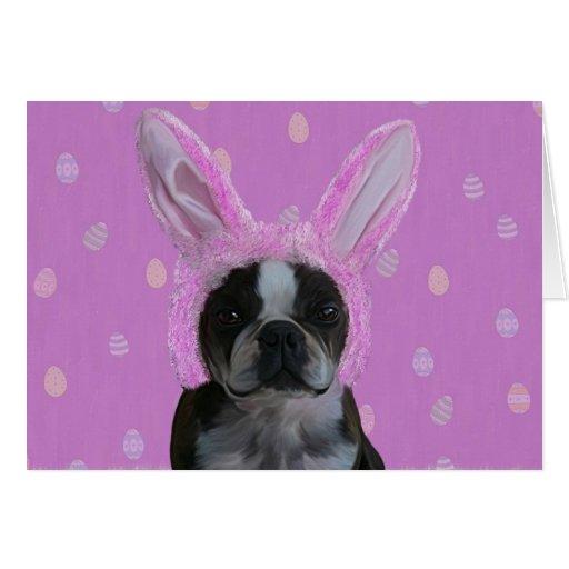 Bunny ears 2 greeting card