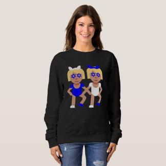 bunny ears hanukkah womens sweatshirt