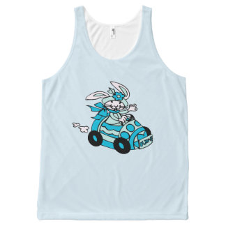 Bunny Easter Egg Car Birds-Egg Blue Bun-E All-Over-Print Tank Top