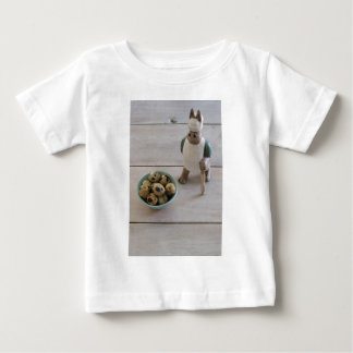 Bunny & eggs in a bowl baby T-Shirt