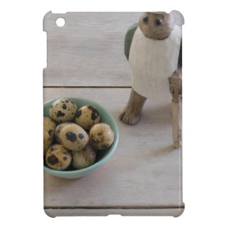 Bunny & eggs in a bowl iPad mini cover