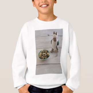 Bunny & eggs in a bowl sweatshirt