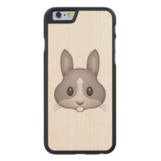 Bunny - Emoji Carved® Maple iPhone 6 Slim Case