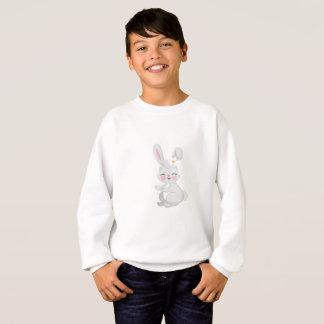 Bunny Face Cute Easter Gift Kids Girls Sweatshirt