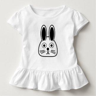 bunny face toddler t-shirt
