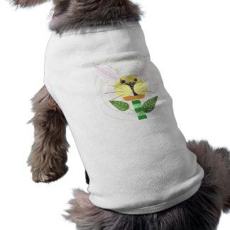 Bunny Flower Dog T-Shirt
