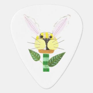 Bunny Flower Guitar Pick