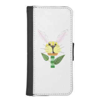 Bunny Flower I-Phone 5/5s Wallet Case