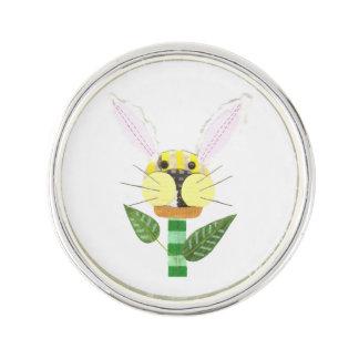 Bunny Flower Lapel Pin