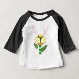 Bunny Flower No Background Baby Raglan Top