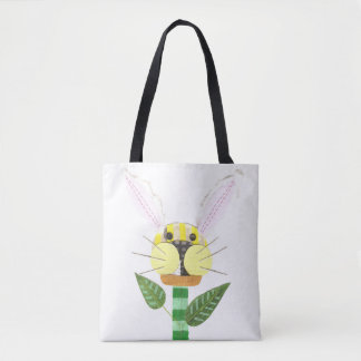 Bunny Flower No Background Tote Bag