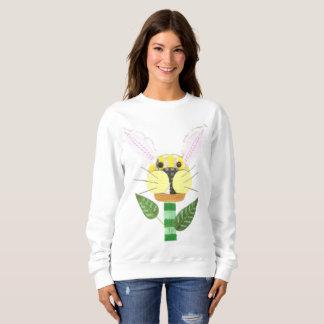 Bunny Flower No Background Women's Sweatshirt