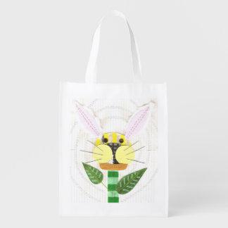 Bunny Flower Reusable Bag