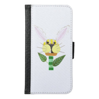 Bunny Flower Samsung Galaxy S6 Wallet Case