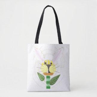 Bunny Flower Tote Bag