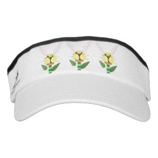 Bunny Flower Visor Hat