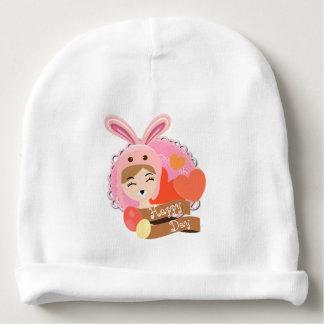 Bunny Hat Ballerina, Happy Easter Baby Beanie