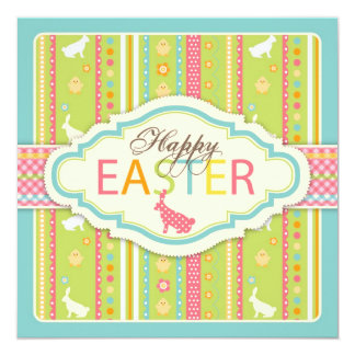 Bunny Hop Invitation Square