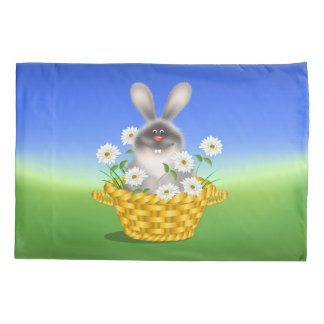 Bunny In Basket Pillowcase
