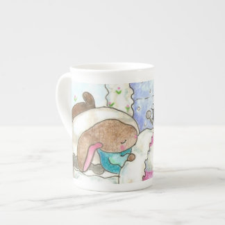 Bunny in bed with bugs mug