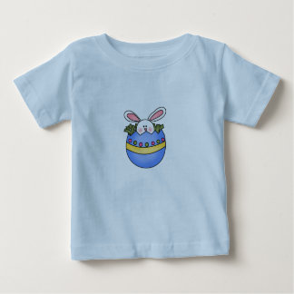 Bunny in Blue Egg Easter Tshirt