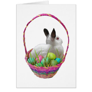 Bunny in Easter Basket Card