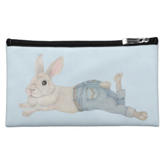 Bunny in Jeans Cosmetic Bag