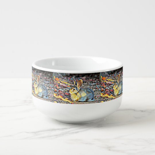 Bunny In Sunlight Soup Bowl Soup Bowl With Handle