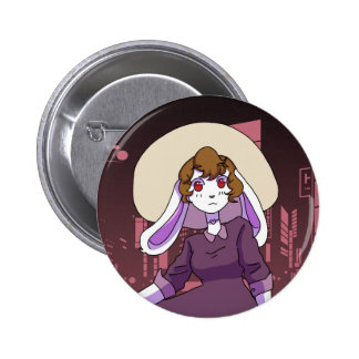 Bunny in the City 2 Inch Round Button